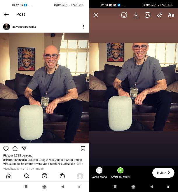 Volver a publicar la publicación de la historia de Instagram