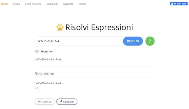 Resolver expresiones