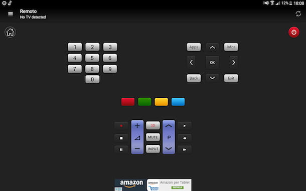 Aplicación para cambiar de canal en la televisión.