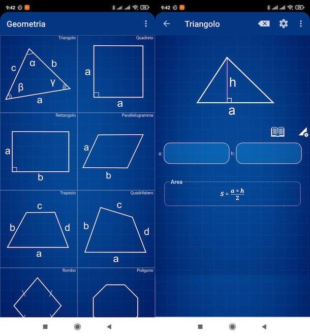 Calculadora de geometría