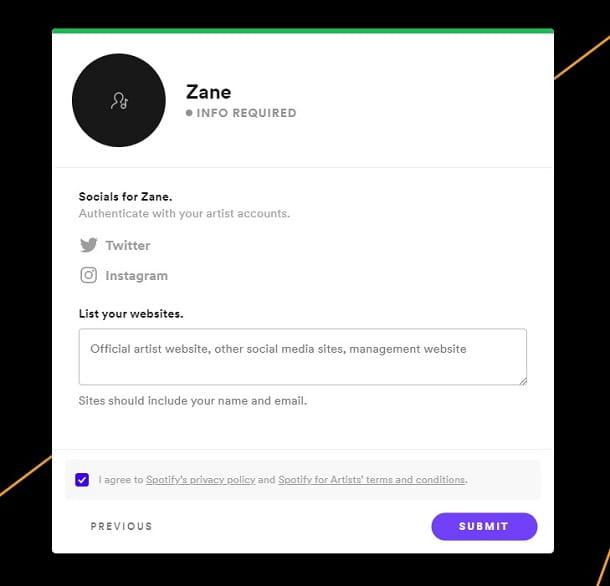 Consulta el perfil de Spotify