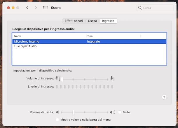 Configuración del micrófono de MacOS
