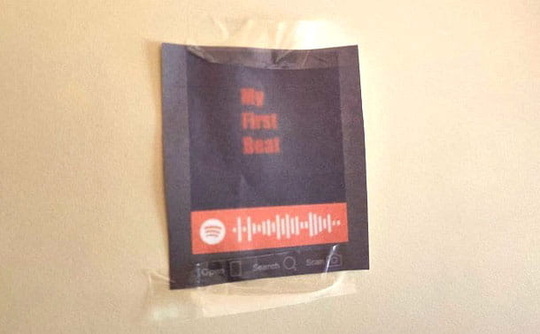 Código de Spotify impreso