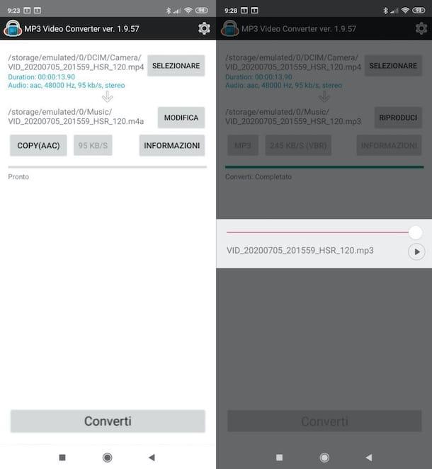 Convertir video a audio en Android