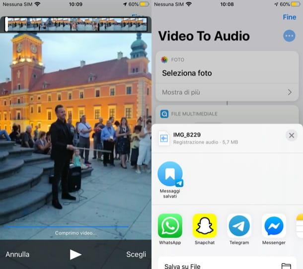 Convertir video en audio en iPhone