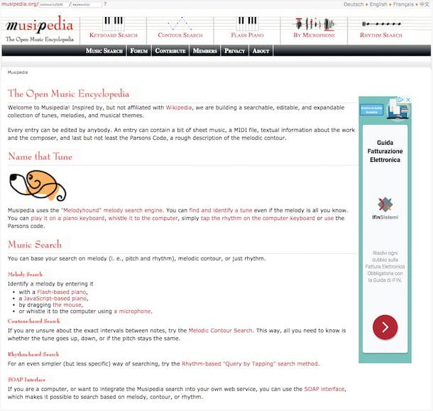 Musipedia en línea