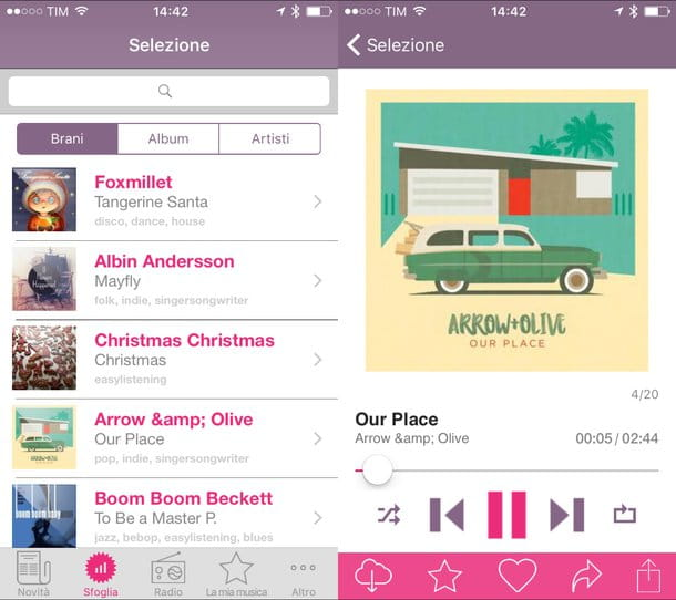 Aplicación para escuchar música gratis