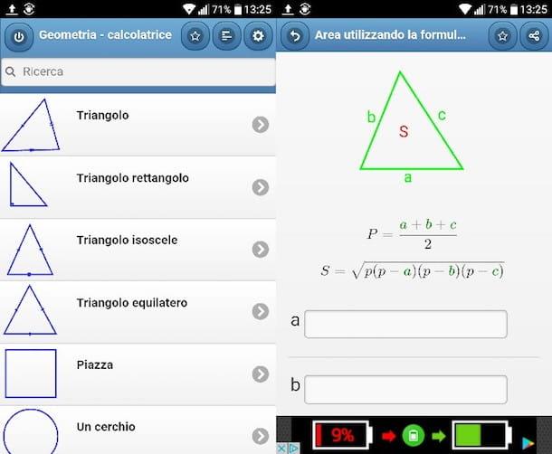Aplicación para resolver problemas de geometría