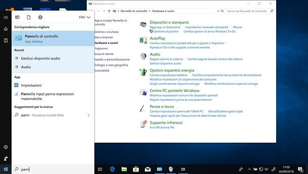 Panel de control de Windows